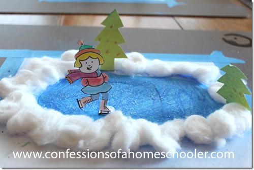Ice Pond Preschool Craft